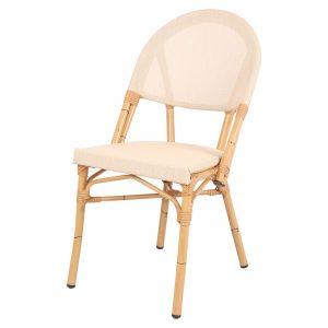 silla terraza color beige