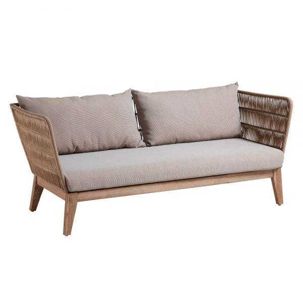 sofá terraza diseño tapizado gris