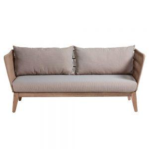 sofa 3 plazas terraza respaldo trenzado