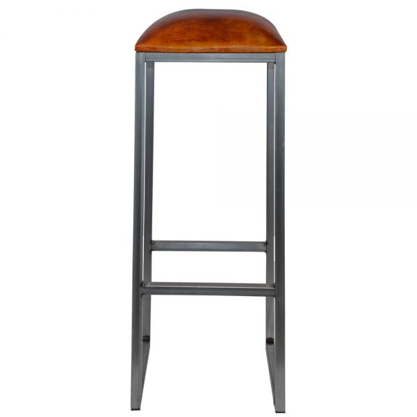 taburete industrail asiento tapizado cuero