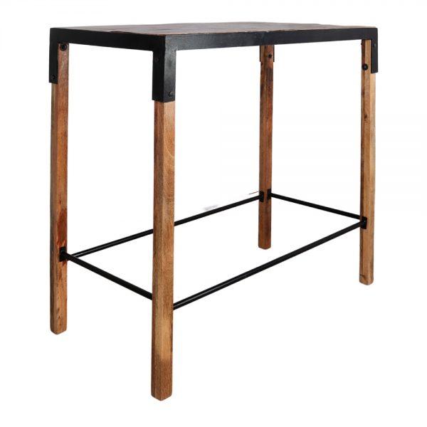 mesa alta bar madera estilo industrial