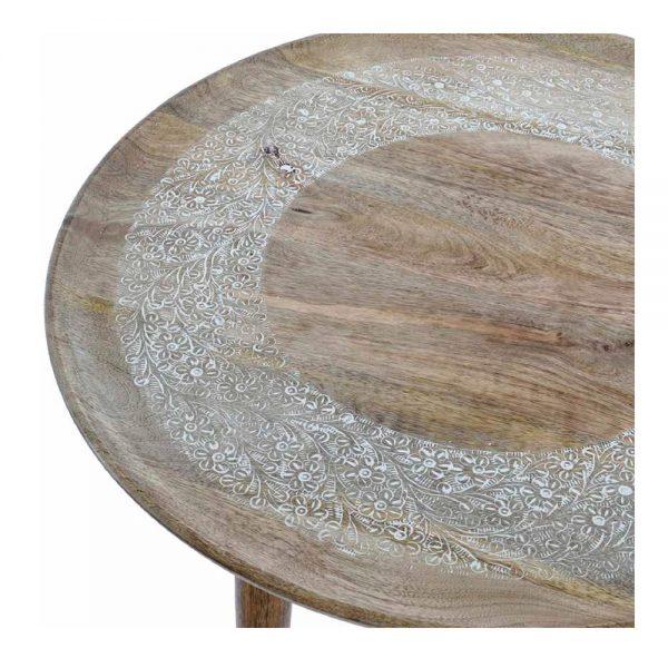 tapa mesa centro madera tallada