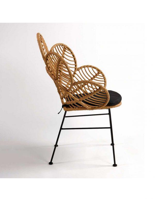 silla terraza rattan de diseño
