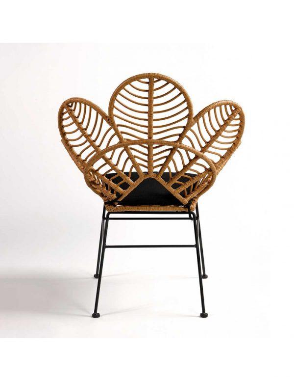 silla con diseño moderno rattan