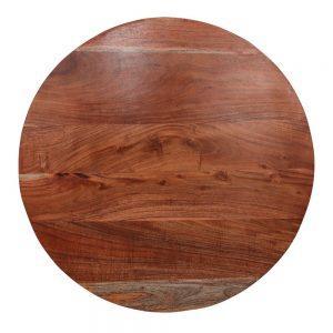 tablero redondo de madera maciza