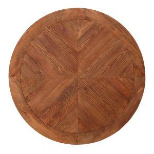 tapa mesa redonda de madera vieja